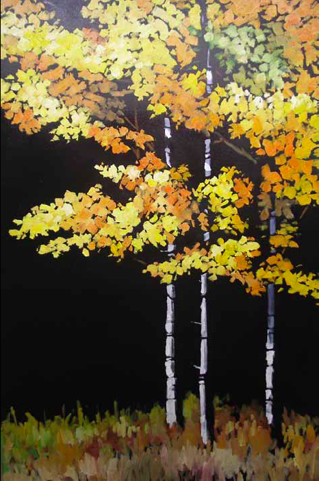 """""""Fall is Here"""" 24 x 36 Oil on canvas $3,672"""
