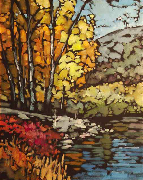 """""""On the Edge of Fall"""" 24 x 36 Oil on canvas Clymer Art Auction, May - Ellensburg, WA"""