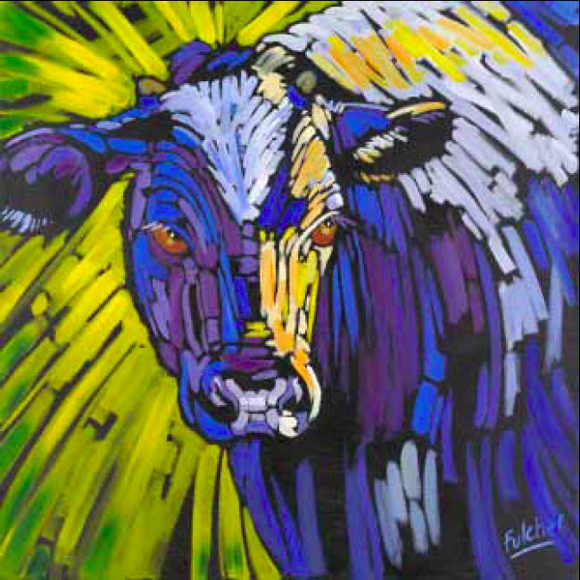 """""""That's A-mooor'e"""" 30 x 30 Oil on canvas $3,825"""